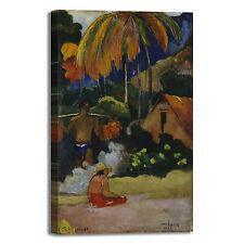 Gauguin paesaggio in Tahiti design quadro stampa tela dipinto telaio arredo casa