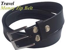 Bolsillo con cremallera oculta seguridad dinero viaje Press Stud Cinturón realleather extra fuerte