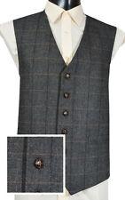 (WW107/2 ) Grey Herringbone Check  Waistcaot Vest  4 Kilts  SALE 2 Clear £29