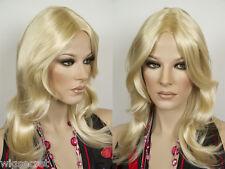Long Medium Blonde Brunette Red Straight Wavy Monofilament Hand Tied Wigs
