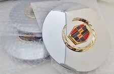 """4 Cadillac ESCALADE 17"""" Gold Wreath & Crest CENTER CAPS!!"""
