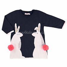 Billieblush Baby Kleid Strickkleid Hase blau pink Bommeln 68 74 80 86 92  NEU