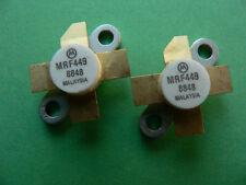 2ea MRF449 RF Power Transistor 30W 30MHz Pair