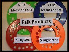 Boat trailer wheel bolt stud lug pattern template gauge measure circle 4 5 6