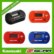 COMPTEUR D'HEURES HORAIRE SANS FIL VIBRATION KAWASAKI KX KXF 85 125 250 450 SCAR