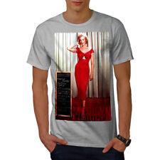 Wellcoda Marilyn Dress Mens T-shirt, America Graphic Design Printed Tee