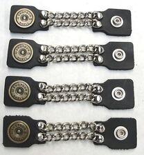4 Pcs. Genuine Leather 12 Gauge Shotgun Shell Vest Extenders High Quality USA