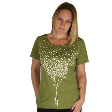 Life is Good Karma Organic Green Hearts Tree Short Sleeve Ladies T-Shirt Tee NWT