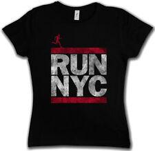 RUN NYC DAMEN T-SHIRT New York City Run Fun Läufer DMC Marathon Letters Ghetto