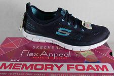 Skechers Memory Foam, Slipper, Sneaker Sportschuhe blau weiches Fußbett, NEU!