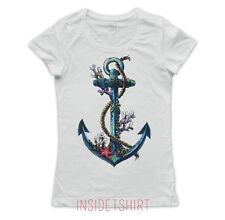 MAGLIETTA TATUAGGIO ANCORA maglia donna vintage sea anchor tattoo T-SHIRT GIRL
