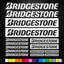 BRIDGESTONE 15 Stickers Autocollants Adhésifs Auto Moto Voiture Sponsor Marques