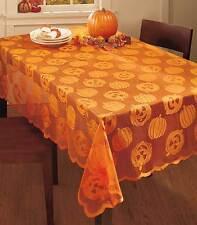 Halloween Decoration Lace Orange Tablecloth Smiling Jack-o'-Lantern Pumpkin