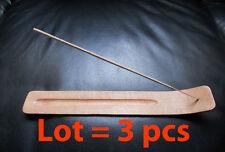 LOT of 3 Natural Wooden Wood Incense Stick Holder Burner NEW Gift