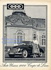 Auto Union 1000 Coupé de Luxe Reklame von 1958 Autounion Coupe Schloß Audi Ringe