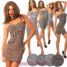 Abito miniabito vestito donna frappa STRASS aderente corto nuovo A87043