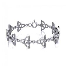 Celtic Triquetra Knot sterling silver Bracelet by peter stone Unique Jewelry