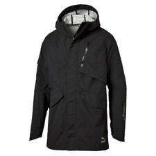 PUMA Evo Tech Parka StormCell Water Resist Black Full Zip L/S Jacket NEW Mens s
