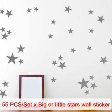 55pcs/set Gift Star Pattern Art Wall Sticker Non-toxic Nursery Various Size PVC