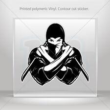 Decal Stickers Ninja Warrior Atv Bike polymeric vinyl Garage st5 ZKX26