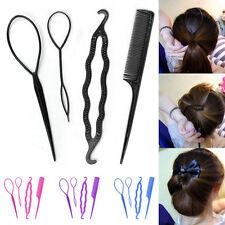 4Pcs Women's DIY Hair Styling Style Magic Clip Sponge Braid Ponytail Maker Tool