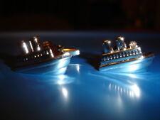 Cruise Ship Liner Boat CUFFLINKS Formal Dress GIFT BOX Sailor Birthday Present
