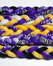 "20"" Titanium Tornado Baseball Softball Necklace Purple"