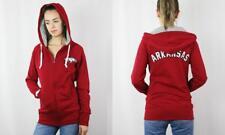New Arkansas Razorbacks Womens Size S-M-L Long Body Full Zip Hoodie Jacket $72