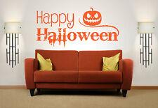 Happy Halloween Quote, Vinyl Wall Art Sticker Decal Mural, Home, Decor, Pumpkin