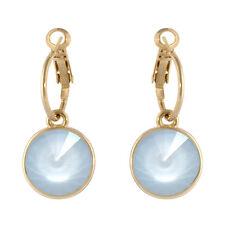 Round Bella Hoop Powder Crystal Earrings Made with SWAROVSKI® Crystals