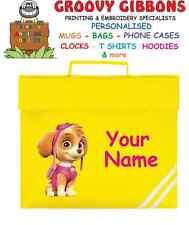 SKYE personalizzata PAW PATROL LIBRO Borsa Cartella della Libreria di lettura