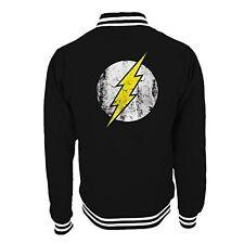 Officiel the flash-logo-baseball college style varsity jacket noir