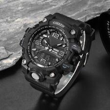 OHSEN Sports Men's Resin Quartz Analog & LED Digital Alarm Stopwatch Wrist Watch