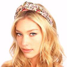 Kristin Perry Floral Silk Top Knot Headband