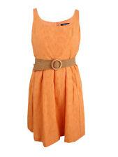 Nine West Women's Belted Burnout Fit & Flare Dress