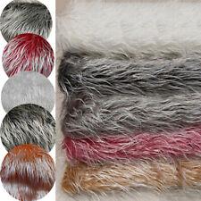 Long Faux Fur Plush Fabric Clothing Sewing Home Room Sofa Decor Craft DIY Supply