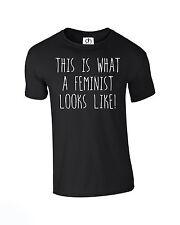 This Is What A Feminist Looks Like Unisex T-Shirt Fashion Gift (FEMINIST,TSHIRT)