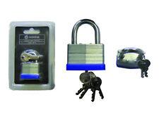 2 / 5 KEYS 30mm Heavy Duty Padlock Safety and Security Indoor/Outdoor Job Lot