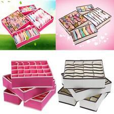 4 Foldable Underwear Sock Bra Tie Draw Divider Organiser Storage Container Box