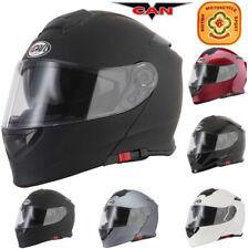 VCAN V271 DVS Flip Up Modular Motorcycle Helmet Motorbike ACU Gold SUN VISOR