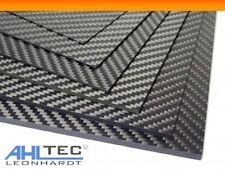 Carbon GF3 Black Platte 2,0mm / CFK GFK Kohlefaser / seidenmatt /Größe wählbar