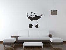 Banksy Pared Arte Pegatina Panda palo em Up Decoración del hogar Hazlo tú mismo Salón Dormitorio Cocina