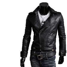 Giacca Giubbotto in Pelle Uomo Men Leather Jacket Veste Blouson Homme Cuir N7o