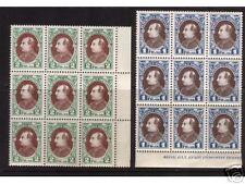 Albania #193 & #194 XF/NH Color Variety Blocks Of Nine