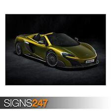 2016 McLaren 675LT Spider (9100) cartel de auto-arte cartel impresión A0 A1 A2 A3 A4