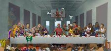 """Basketball Stars Poster Last Supper Kobe Jordan silk Print 11x24"""" 20x42"""" 24x51"""""""