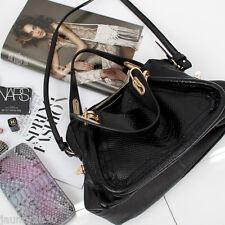 New PREMIUM CALFSKIN LEATHER PARATY ANACONDA Shoulder Totes Bag Women's Handbag