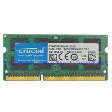 Crucial 4GB 8GB DDR3 1066/1333/1600Mhz 204pin Laptop SODIMM Notebook Memory ram