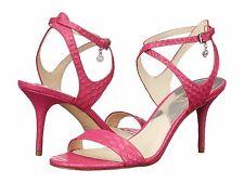 NEW ($120) Michael Kors Kaylee Mid Embossed Sandals. Fuscia. 100% Authentic.