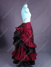 Victorian Edwardian Bustle Walking Skirt Theatre Steampunk Punk Clothing K034